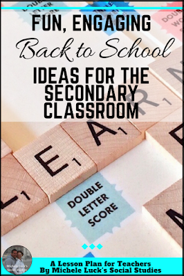How to create a Meet and Greet for Back to School in the middle or high school classroom. A fun and engaging activity idea for the first day of school.