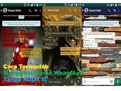 Cara Termudah Mengganti Tema WhatsApp Tanpa Root