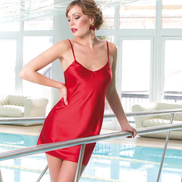 Seide Unterkleid Intensa rot von Cotton Club