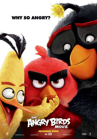 Poster of The Angry Birds Movie 2016 Download TC 720p Dual Audio