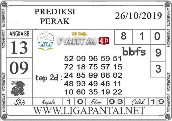 """PREDIKSI TOGEL """"PERAK"""" PANTAI4D 26 OKTOBER 2019"""