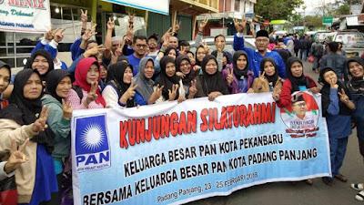 (DPD) Pengurus Partai Amanat Nasional (PAN) Kota Pekan Baru Tour dan Gathering ke Sumatera Barat