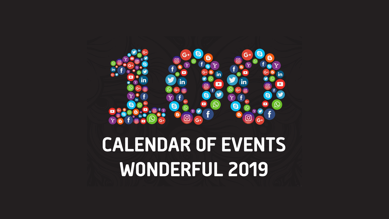 100 Calendar of Events Wonderful Indonesia 2019