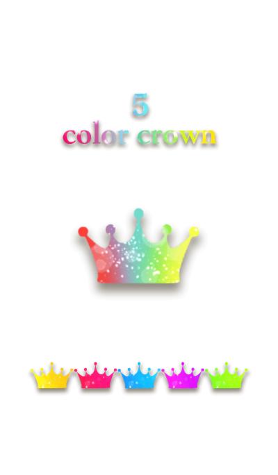 5 color crown.