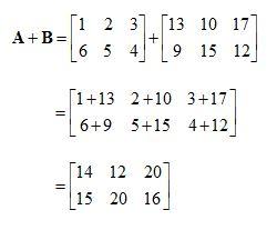 contoh soal penjumlahan matriks