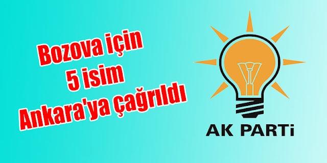 Bozova için 5 isim Ankara'ya çağrıldı