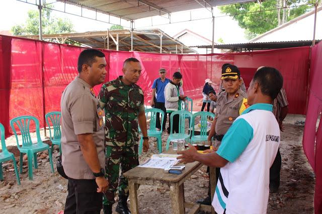 Cek Persiapan Pemilu , Kapolres dan Dandim Pimpin Patroli