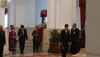 Tampak Megawati dan Lulung Saat Pelantikan Djarot di Istana