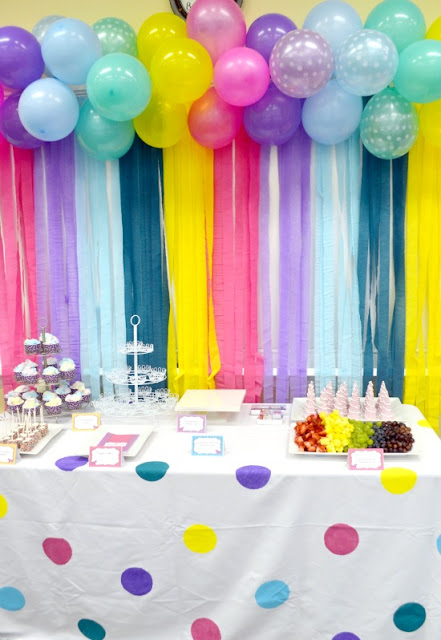 DIY Rainbow Background for a Party.