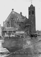 St Andrew's Church, Ann Street, Brisbane, 1915.