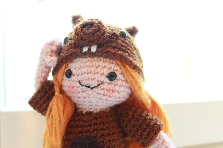The Squirrel Girl Amigurumi free crochet pattern is a representation of a Girl Scout or Nature Child. One with Nature, happy, helpful and cheerful!