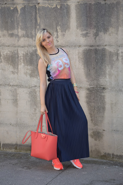 pleated skirt outfit how to wear pleated skirt mariafelicia magno fashion blogger color block by felym summer outfit june outfits fashion bloggers italy