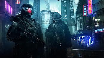 Cyberpunk, Sci-Fi, Skull, Soldier, 4K, #161