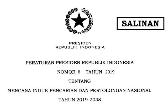 Peraturan Presiden Nomor 8 tahun 2019