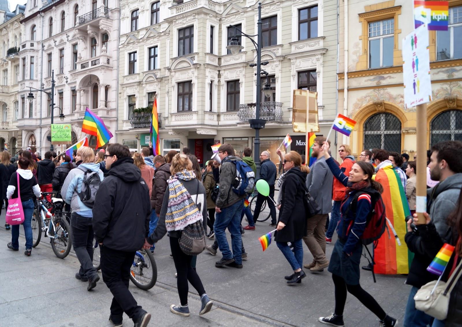 LGBT march Lodz