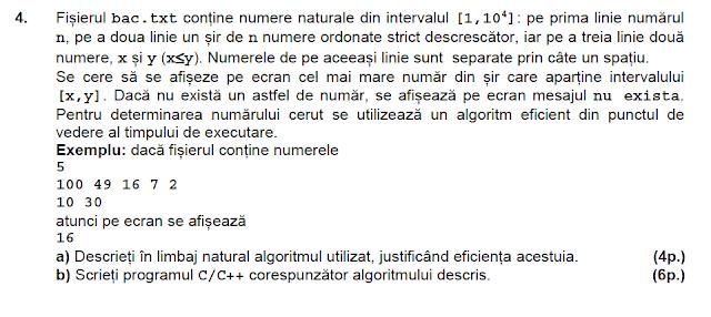 simulare bac 2015 matematica informatica