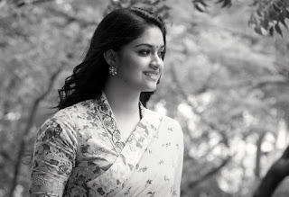 Keerthy Suresh in Yellow Saree with Cute and Awesome Lovely Smile for Mahanati Promotions 4