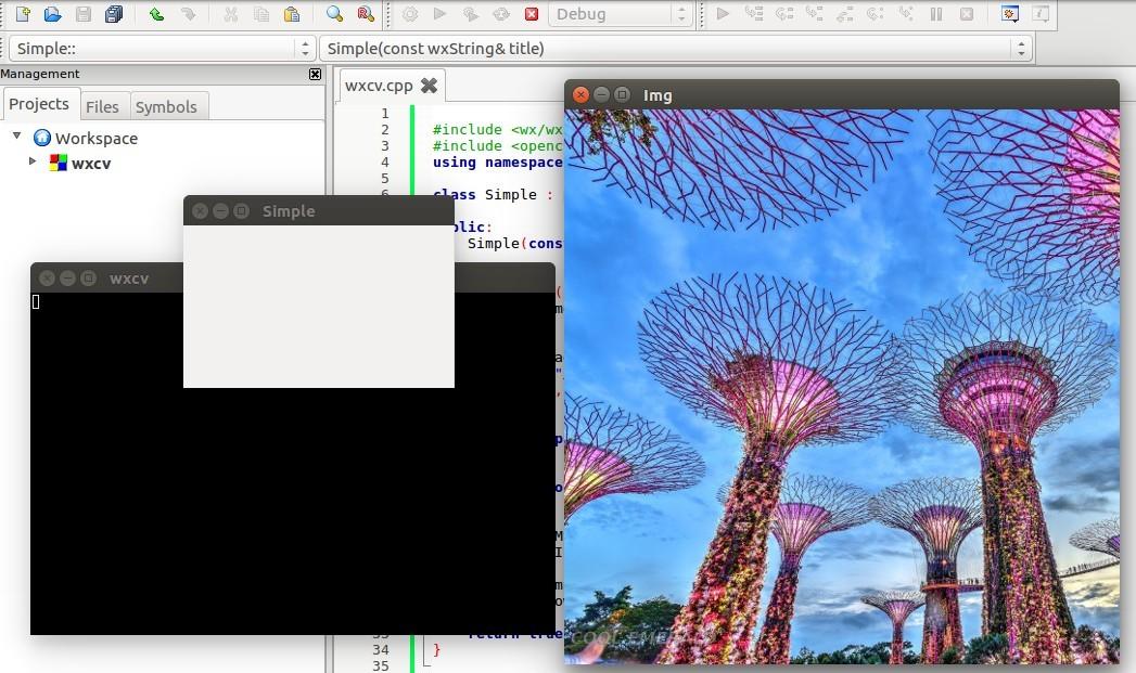 Cool-Emerald: OpenCV with wxWidgets