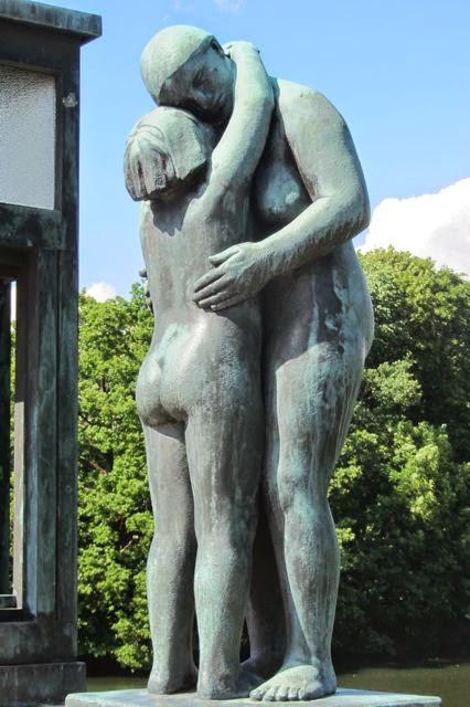 Noorwegen beelden in Vigelandpark