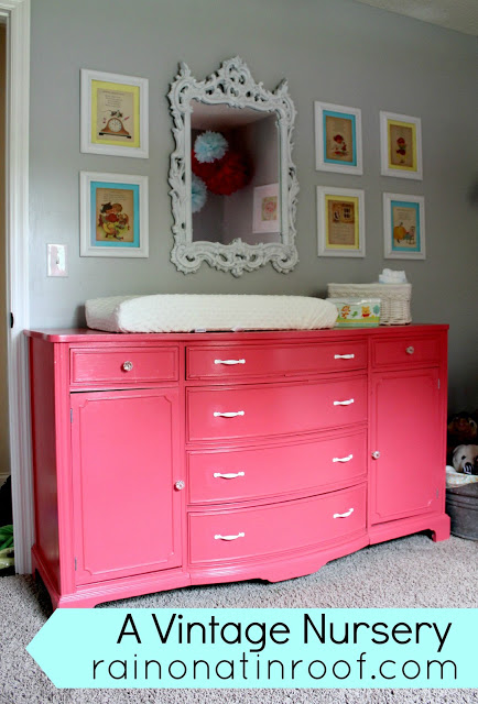 vintage+nursery+13 A Colorful Home Tour: Rain on a Tin Roof {Color My Home Summer Blog Series} 21