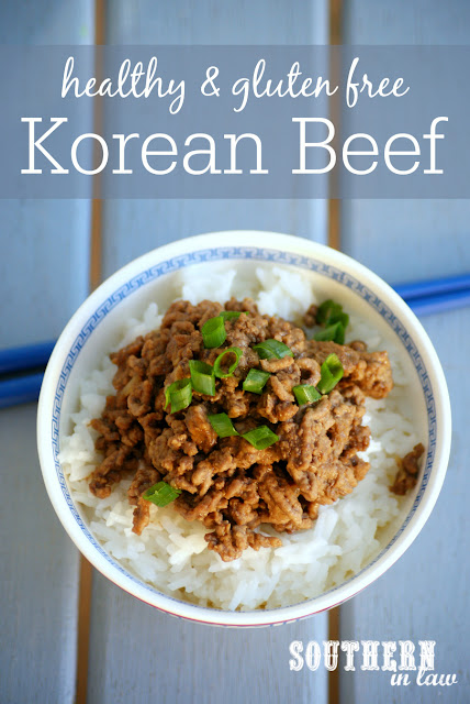 Healthy Korean Beef Recipe - stir fry with beef mince, healthy ground beef recipes, low fat, gluten free, high protein, clean eating, sugar free, paleo, grain free