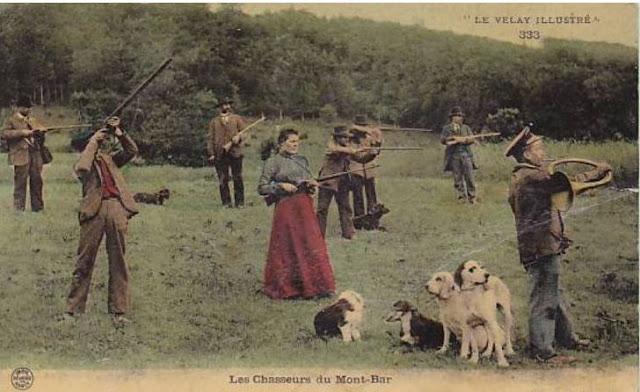 carte postale Chasseurs du Mont Bar; Haute Loire