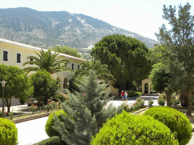giardini del monastero di Ag. Gerasimos, isola di Cefalonia
