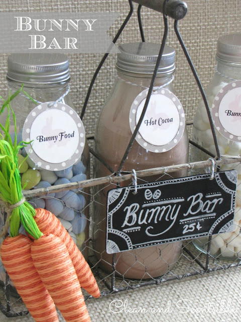 easter hot chocolate bar