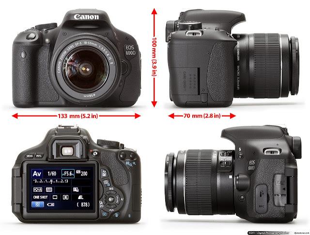 spesifikasi kamera canon 600d