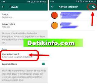 blokir pesan di whatsApp