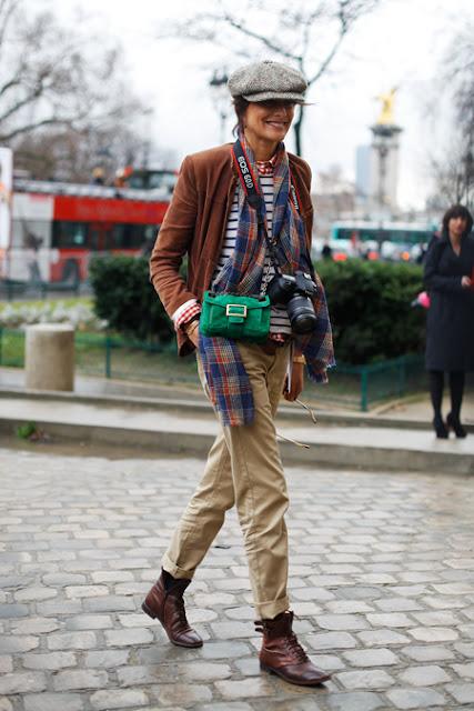 Street Style : Inès de La Fressange photographer