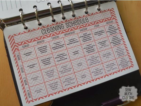 Cleaning Schedule {{Planner Organization}}