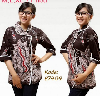 Baju batik remaja wanita lengan panjang