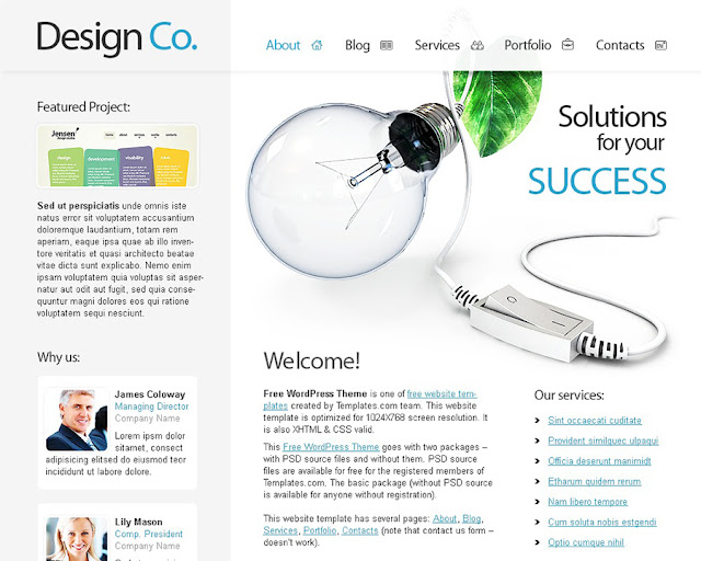 Free WordPress Theme for Design Studio