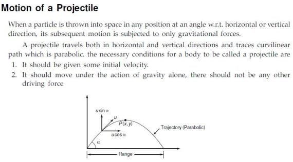 Vedupro: Motion of a Projectile ...........