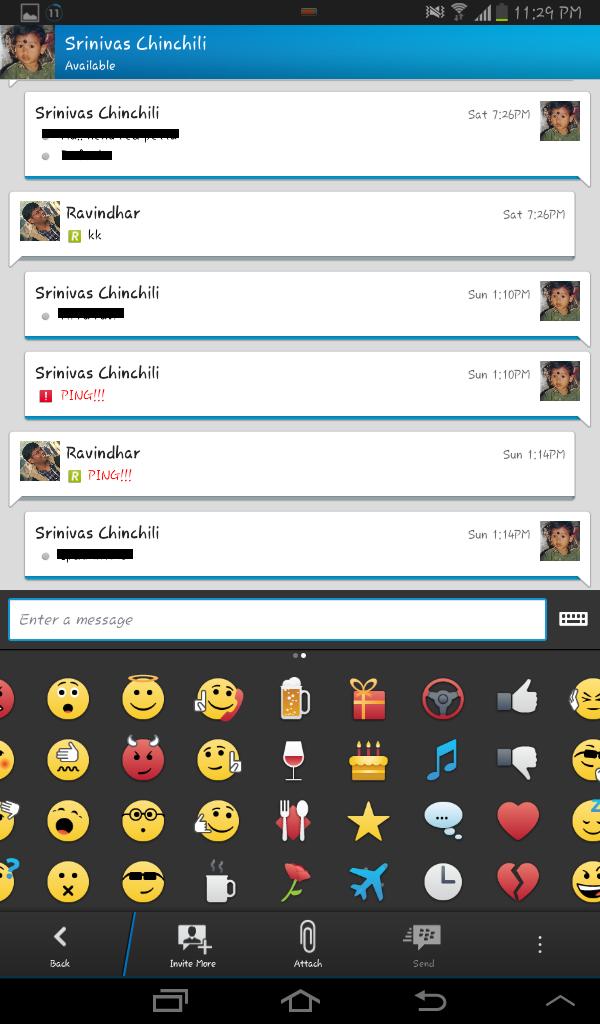 BBM individual chat View