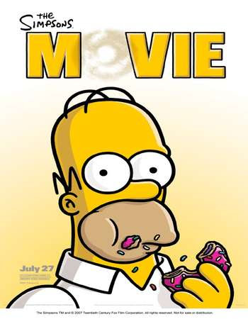 Poster Of Hollywood Film Watch Online The Simpsons Movie 2007 Full Movie Download Free Watch Online 300MB