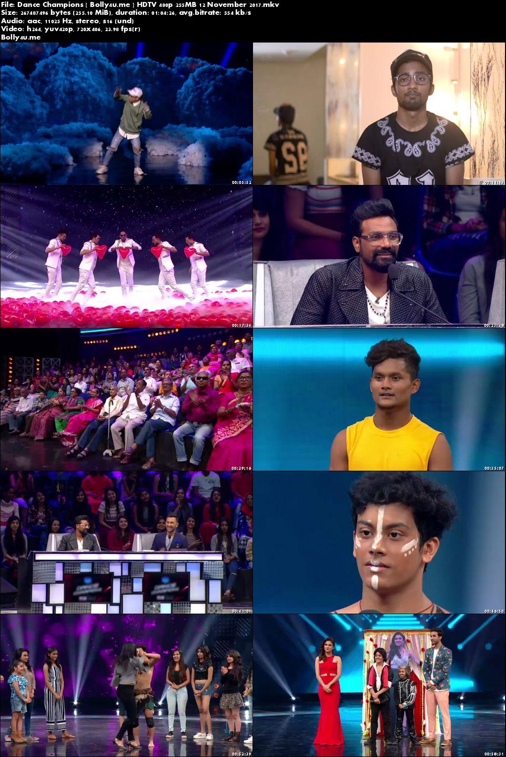 Dance Champions HDTV 480p 250MB 12 November 2017 Download