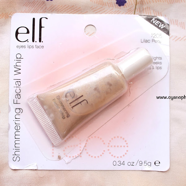 Review e.l.f Shimmering Facial Whipe - Lilac Petal