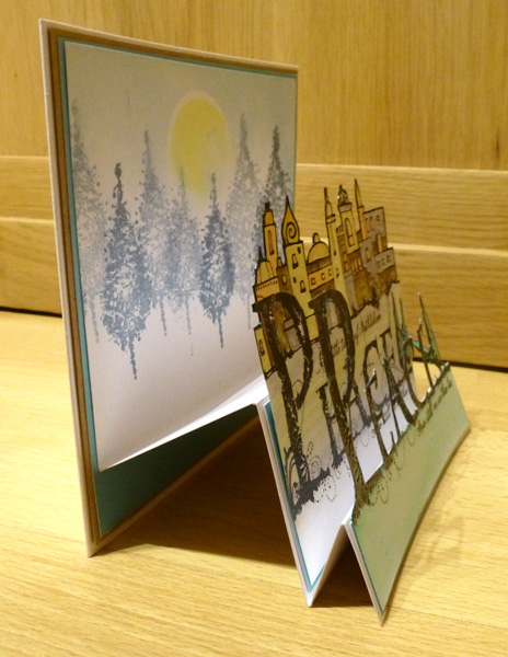 Peace card side view