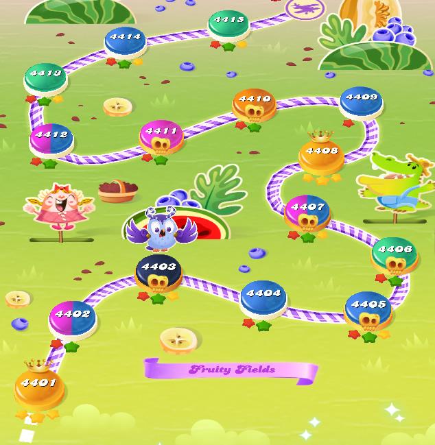 Candy Crush Saga level 4401-4415
