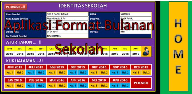 Download Format Rekap Data Bulanan Sekolah Semua Jenjang Thn 2016