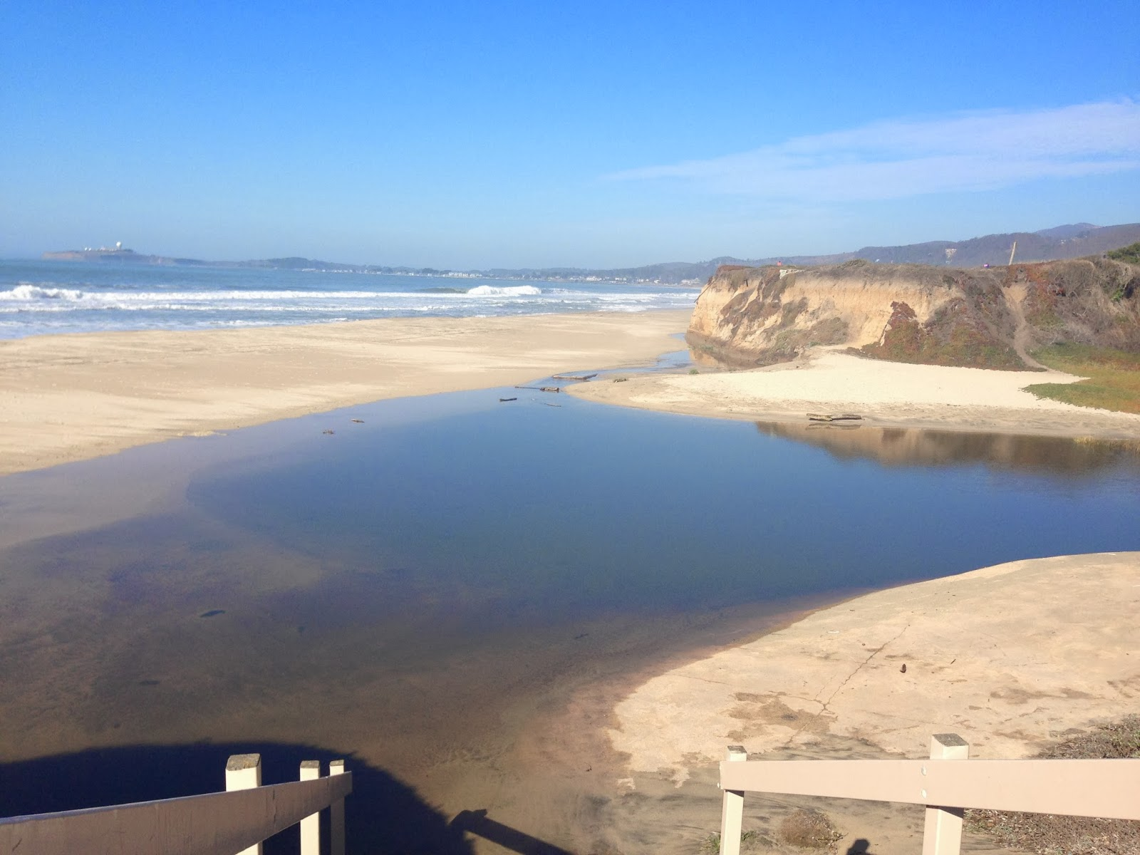 My Friend Told Me She Really Wanted To Go Half Moon Bay So We Decided There When Arrived Parts Of The Beach Were Flooded From Other Day