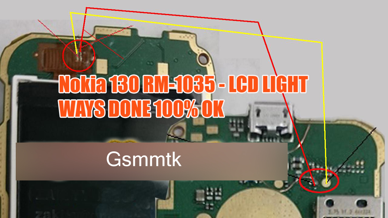 Nokia 130 Display Light jumper solution