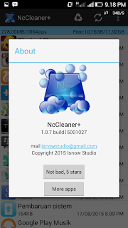 NC Cleaner+ wajib