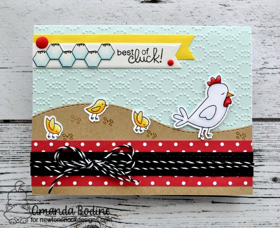 Best of Cluck Card by Amanda Bodine | Chicken Scratches Stamp Set by Newton's Nook Designs #newtonsnook #handmade