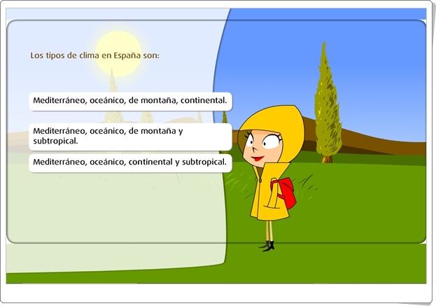"""""""Los climas de España"""" (Juego de Ciencias Sociales de Primaria)"""