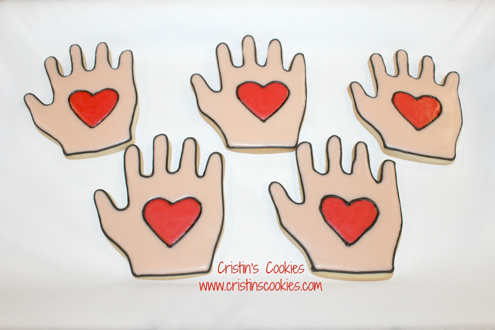 Cristins Cookies I Hold Your Heart In My Hand