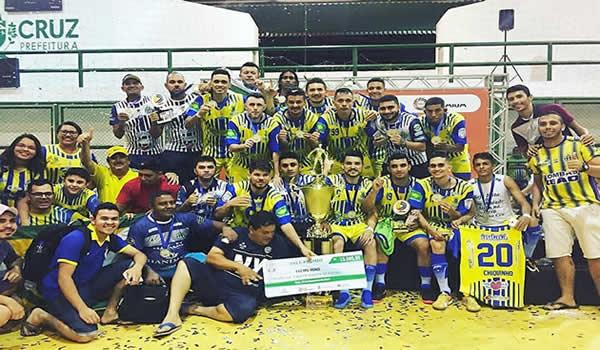 Campeão de tudo! Horizonte bate Bela Cruz e leva Taça TV Diário de Futsal