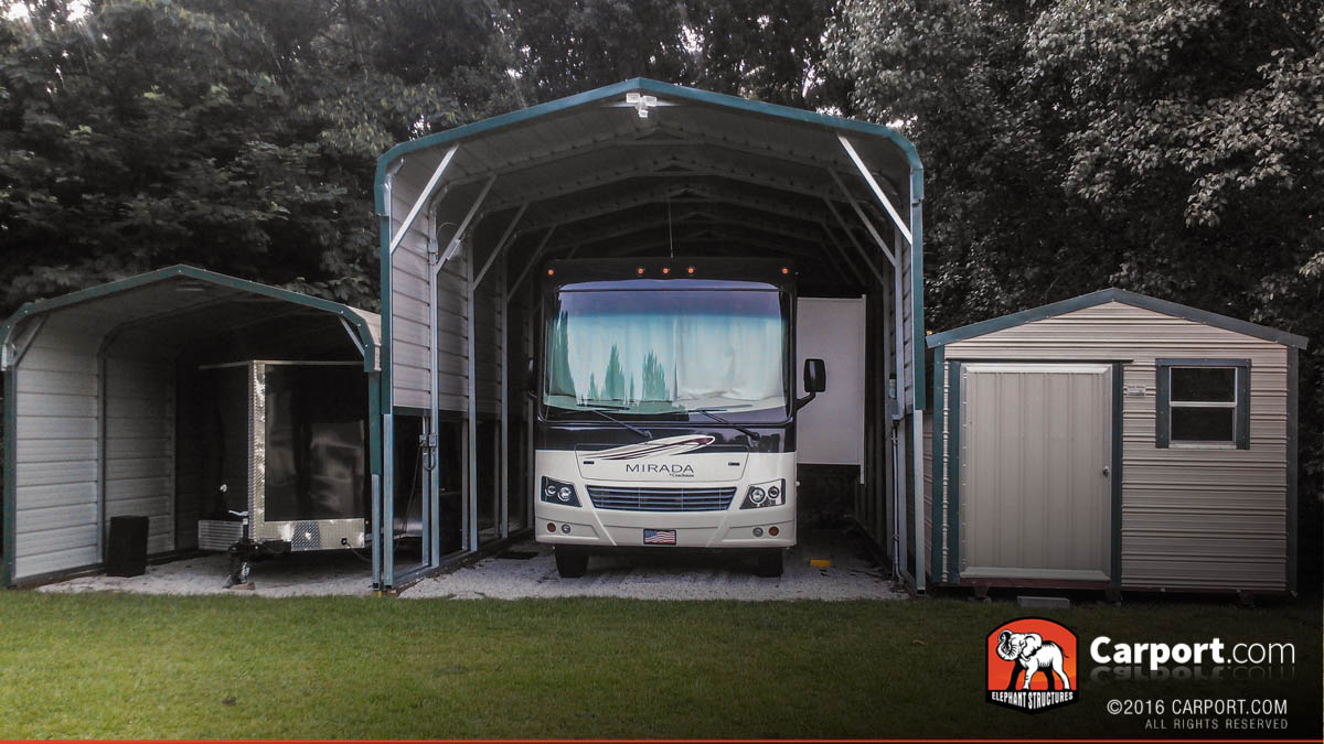 Introducing rv carports from elephant structures for Metal rv garage